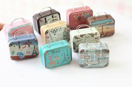 2019 коробка с ящиком для чемоданов 120pcs 75x55x35mm Small Tin Vintage Party Rectangle Handbag Suitcase Luggage Shaped Candy Box Wedding Favor Gift Boxes wen6214 скидка коробка с ящиком для чемоданов
