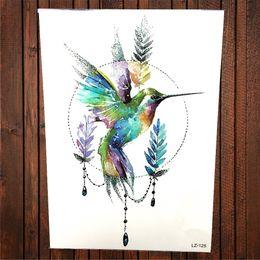 05b5cc9cef9b0 China Sexy Watercolor Drawing Geometric Hummingbird Temporary Tattoo  Stickers Women Men Body Art Painting Hummer Birds
