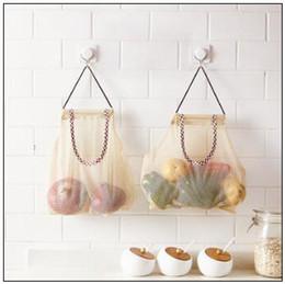 Wholesale shop kits - 26*29cm Reusable Hanging Storage Mesh Bag Vegetable Fruit Garlic Potatoes Onions Garbage Trash Bag Shopping Bags Organizer CCA10062 100pcs