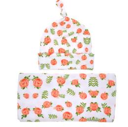 Canada Style européen bébé fleur swaddle wrap couverture pépinière literie enveloppé serviettes avec un chapeau de fleur de haute qualité cheap european baby bedding Offre