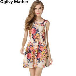 Wholesale Cheap Wholesale Women Summer Clothing - Summer Women Dress 2018 Ladies Print Casual Female Style Fashion Office Women Clothing Cheap Bohemian Beach Sleeveless Dress