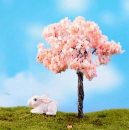 Tipi ciliegie online-6 cm 15 tipi mini fata giardino vasi figurine micro paesaggio decorazione albero simulazione fiori ciliegio