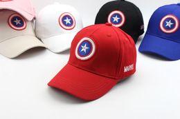 Wholesale Captain Baseball Cap - Child Baseball Cap Summer Sun Cap Captain America Adjustable Boy and Girl Spring Dome Hip-Hop Visor Hat