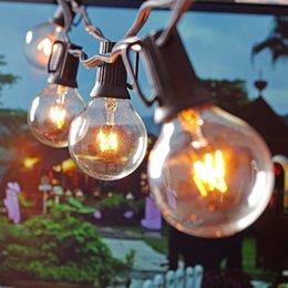 2019 tende rosse calde 25Ft G40 Globe String Lights With 25 Clear Ball Lampadine Vintage Indoor / Outdoor Hanging Ombrello Patio String Lighting EU / US