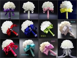 2019 piante di rose desertiche Bouquet da sposa Bouquet da damigella d'onore con cristalli Fiori di rosa artificiali per accessori da sposa per feste