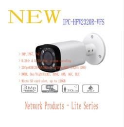 Wholesale Varifocal Ir Camera - DAHUA 1.3MP IR Waterproof&Varifocal Network Bullet Camera with POE Original English Version without Logo IPC-HFW2320R-VFS