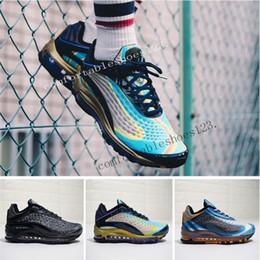 NOVITÀ Skepta x Maxes Deluxe 99 Sneakers uomo blu notte TPU Light Shoes Uomo Air Rainbow 3M AQ1272-400 Sneakers uomo donna Air Rainbow da
