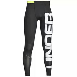 Wholesale Mens Compression Sports Pants - Mens Pro Sports Outdoor Running Leggings Pants Basketball Jogging Compression Base Layer Skin Tights Quick-dry Pant Cycling Fitness Trousers