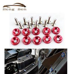 montaje de bloqueo Rebajas HB Universal Arandelas guardabarros de 6 mm Arandelas y tornillos Aluminio para Civic Integra RSX EK EG DC