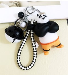 Wholesale classic cars souvenir gift - Kung Fu Panda Keychain OPortugal Po Key Rings Holder Gift Chaveiro Car Key Chain Jewelry Movie Souvenir LY