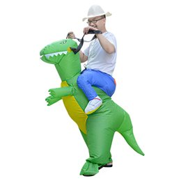 Wholesale funny costume adult women - Halloween inflatable dinosaur costume adult suit party blow up riding dino clothing halloween costumes funny costumes for women full age