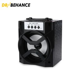 Wholesale Mini Square Speakers - 50pcs MS-134BT Mini Portable Wireless Bluetooth Square Speaker Support FM Radio LED Shinning TF Micro SD Card Music Playing