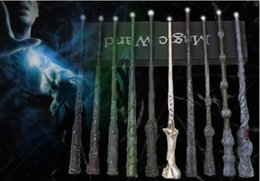 2020 led luminosi bacchette di harry potter 11 Stili Harry Potter Bacchetta magica LED Light Sirius Hermione Voldermort Magical Wand Personaggi Cosplay Natale Halloween Cosplay Toy Gift led luminosi bacchette di harry potter economici