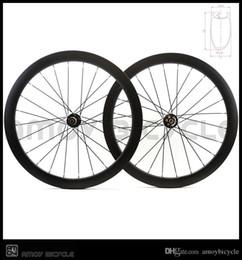 Discos de fibra de carbono online-Ventas calientes 700C 50mm remachador mate acabado negro completo toray T700 ruedas ruedas freno de disco de carbono ruedas de carretera