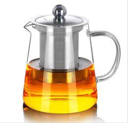 Чайный кофе онлайн-550 мл ясно термостойкое стекло чайник чайник с Infuser фильтр чай банку домашнего офиса чай кофе инструменты