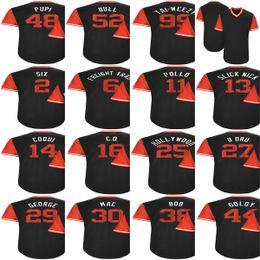 Wholesale Blank 25 - Mens Womens Kids Toddlers Arizona 11 AJ Pollock 25 Archie Bradley 27 Brandon Drury Blank Black 2017 Players Weekend Baseball Jersey