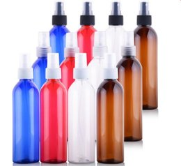 Wholesale Cap Spray - Round Shape Refillable 250ml PET Plastic Cosmetic Bottle With Screw, Spray, Cream Pump Caps Used To Divide Most Liquid