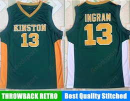 Wholesale Brandon Shirts - HOT KING STONE HIGH SCHOOL 13 Brandon Ingram Stitched embroidery jerseys Jersey SHIRTS cheap sport basketball retro THROWBACK sale