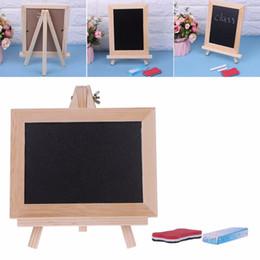 Office & School Supplies 36*17cm Office School Desk Message Wood Blackboard Chalkboard Kids Wooden Writing Drawing Black Board With Chalk Magnetic Nail Blackboard