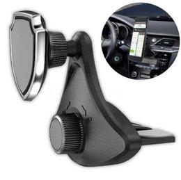 1 шт. 360 вращающийся автомобильный держатель стенд магнитный универсальный CD слот сотовый телефон от Поставщики универсальный стенд