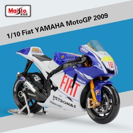 Wholesale toy metal bus - 1 10 Scale JAPAN Fiat YAMAHA MotoGP 2009 Diecast Metal Racing Motorcycle Model Toy For Gift Kids Collection Free Shipping