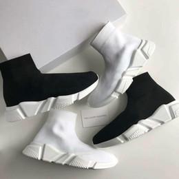 Chaussures De Sport En Tricot Stretch-chaussette De Vitesse - Balenciaga Gris RhtHmKI6l