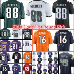 Wholesale broncos jerseys - 2018 Philadelphia 88 Dallas Goedert Eagle Jersey New 16 Courtland Sutton Denver Bronco Hurst Hughes Edmunds Football Jerseys