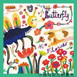 Köpek Çiçek Yaz Karikatürler Tasarım Moda Stil Zarif Lady Eşarp Kare Eşarplar Kravat Boyun Dekorasyon Güzellik Hediye Toptan KT20 nereden
