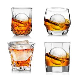 Wholesale Glasses For Red Wine - GH New Whiskey Glass Water Cup For Beer Red Wine Juice Transparent Glass Cup Drinkware Drinking Tools Creative Gifts