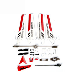 Wholesale Helicopter Shaft - 3 Color Free shipping set of replacement parts Syma S107 remote control helicopter blades Propellers balance bar shafts gears