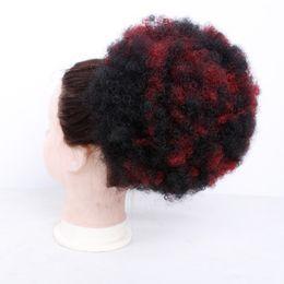El moño rizado neto elástico de las mujeres de 6inch 8inch con dos peines plásticos Updo cubre la belleza sintética del pelo desde fabricantes