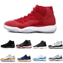 Zapatos de diseñador Baile de noche Gorra Vestido Blackout Gana como gimnasio Rojo de Chicago Zapatillas de baloncesto 11s Bred Space Jam Concords Sports Sneaker desde fabricantes