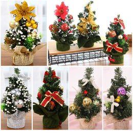 Mall weihnachtsschmuck online-Weihnachtsbaum Weihnachtsschmuck Urlaub Party Shopping Desktop Ornament Baum 20cm Mini Xmas Day Mall Dekorationen HH7-1720