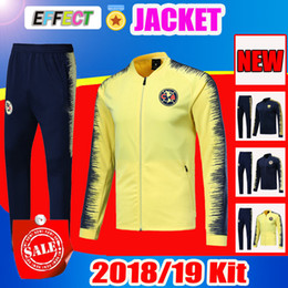 6a335c51a Survetement 2018 2019 Mexico club America jacket kit Training suit Football  18 19 UNAM Soccer tracksuit Set Long Sleeve Uniforms Shirts