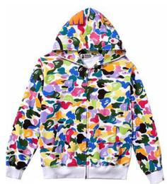 Sweater inverno coreia on-line-Outono e inverno nova camisola Japão e Coréia do Sul Harajuku estilo zíper impressão doce cor camuflagem homens e mulheres camisa casal hip hop