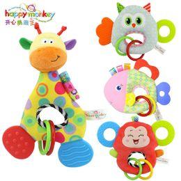 bambole di massaggio Sconti Sviluppo del bambino della peluche morbido giraffa animale campane campanelli sonagli gestire giocattoli vendita calda con massaggiagengive giocattoli di sviluppo del bambino