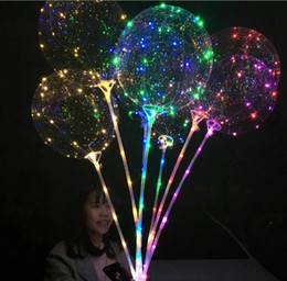 Argentina Globo BOBO luminoso con Stick 3 metros LED Light Up Globos transparentes con poste Stick para decoraciones navideñas GA99 cheap holiday meter Suministro