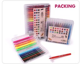 Wholesale New Year Set - New Sketch Art Marker Pen Water Color Set metalic Brush Pens For Drawing Handwriting School Accessories