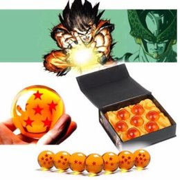 Wholesale crystal ball set - 7pcs set Crystal Dragon Ball Toy 4cm 7 Stars Crystal Balls Toys Resin Dragon Beads Kids Gift Novelty Items CCA9599 10set