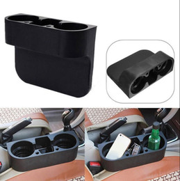 Wholesale Wedge Mount - 2 Cup Holder Drink Beverage Seat Seam Wedge Car Auto Truck Food Mount Stand Racks OOA4644