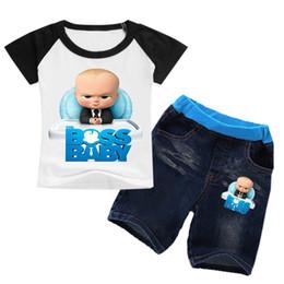 2019 vestiti lunghi di calzini 2-8Years Bobo Choses Summer 2018 The Baby Boss Abbigliamento Boy Summer Set Girl Set Abbigliamento 2 pezzi Camicia Tshirt Pantaloncini Kids Jeans