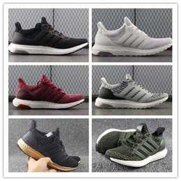 Wholesale Clear Plastic Men Shoe Box - Triple Black White Ultra Boost Cheap Man Women Pink Green UltraBoost Shoes Trainers Sneakers With Box Size US5--11