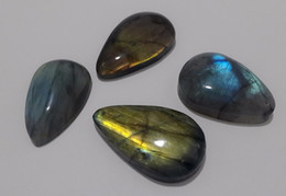 Wholesale Natural Gemstone Carving - 1 pcs Natural tumbled oval stone crystal quartz pendant healing reiki labradorite pendant moonlight polished gemstone drop shipping
