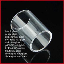 2019 tubo de vidrio de nautilo Ijust 2 pangu brit one Ijoy maxo v12 melo 300 griffin 25 plus nautilus 2 obs motor nano Clear Pyrex Replacement Glass Tube rebajas tubo de vidrio de nautilo
