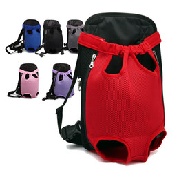 Grandi cani trasportano borse online-Mesh Cloth Dog Backpack Traspirante Pet Cat Carrier Fashion Puppy Animali Borsa da viaggio Easy Carrying Cats Borse a doppia spalla per cane