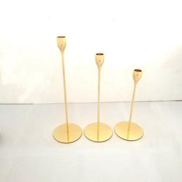 suporte de pilares Desconto Titulares de Castiçal de Metal de ouro Decoração de Casamento Bar Festa Home Decor Estilo Moderno Rose Gold Stand Pillar Castiçal