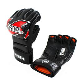 Wholesale Boxer Gloves - free shipping taekwondo punching bag kicking free size UFC combat boxing grappling boxer fight mma gloves