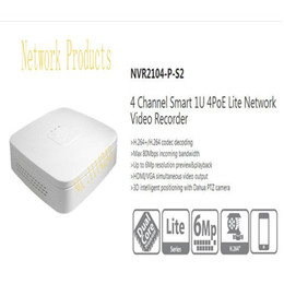 Wholesale Dahua Network Video Recorder - Dahua 4CH Smart 1U 4PoE Lite Network Video Recorder English Version H.264+ H.264 HD 1080P Up to 6Mp Without Logo NVR2104-P