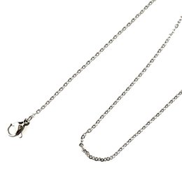 Dull Silver 1.6mm Link Chain Necklace Cadena de acero inoxidable desde fabricantes