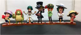 2019 coleção de brinquedos de uma peça 8 cm 7 pçs / set UMA PEÇA FILME OURO ONEPIECE Koala leizimattress action figure Toy Coleção modelo de Filme presente Anime pet eletrônico coleção de brinquedos de uma peça barato